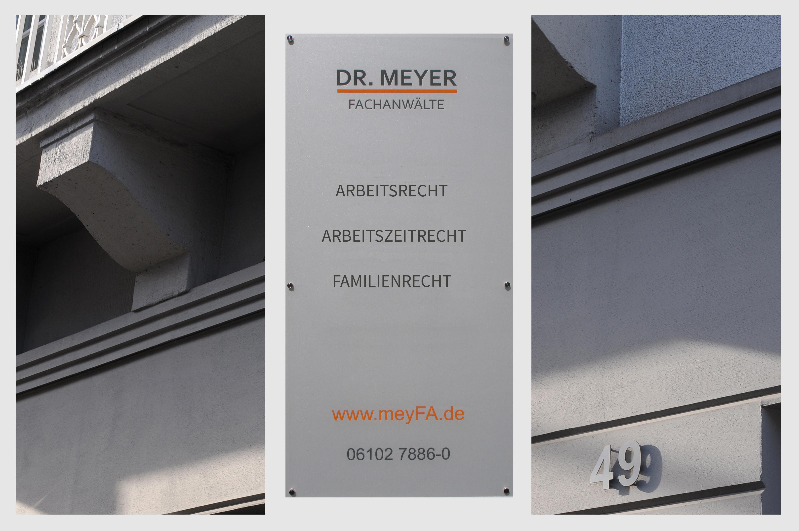 Dr. Meyer Fachanwälte, Arbeitsrecht, Arbeitszeitrecht, Familienrecht